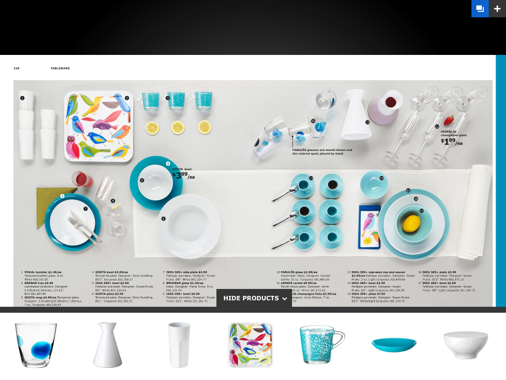 2013 IKEA Catalog for iPad | styled by whimsee